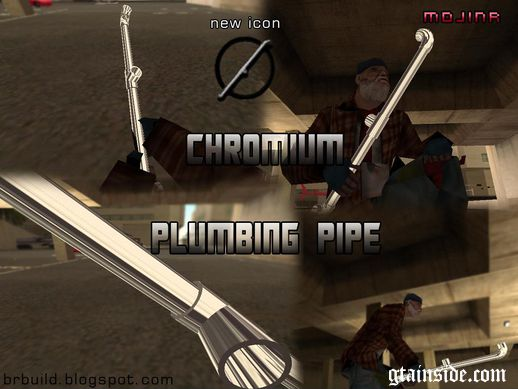 Chrome Plumbing Pipe - Bat