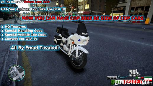 GTA San Cop Bike