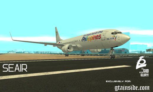 بوئینگ 737 800 SEAIR با آرم DOT