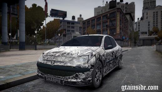 Peugeot 206 SD Sharpie Paint Job