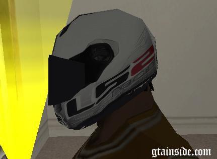 White LS2 Helmet