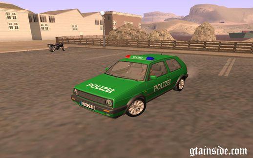 Volkswagen Golf Mk2 Polizei