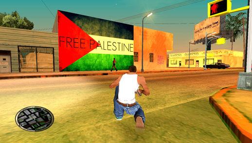 Free Palestine Wall Graffiti